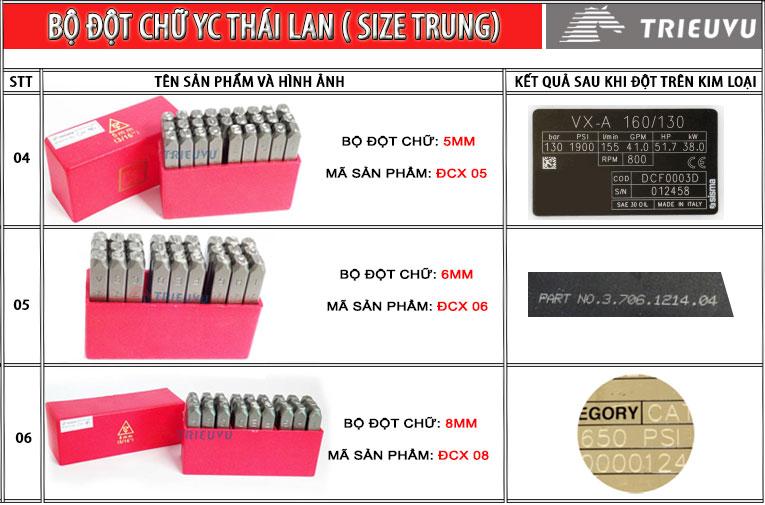 Bộ đột chữ YC Thái Lan 02