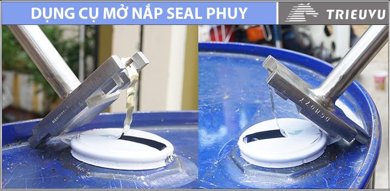 Cách mở nắp seal thùng phuy sắt
